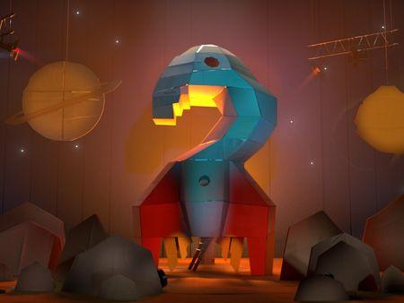Cardboard Space Rocket