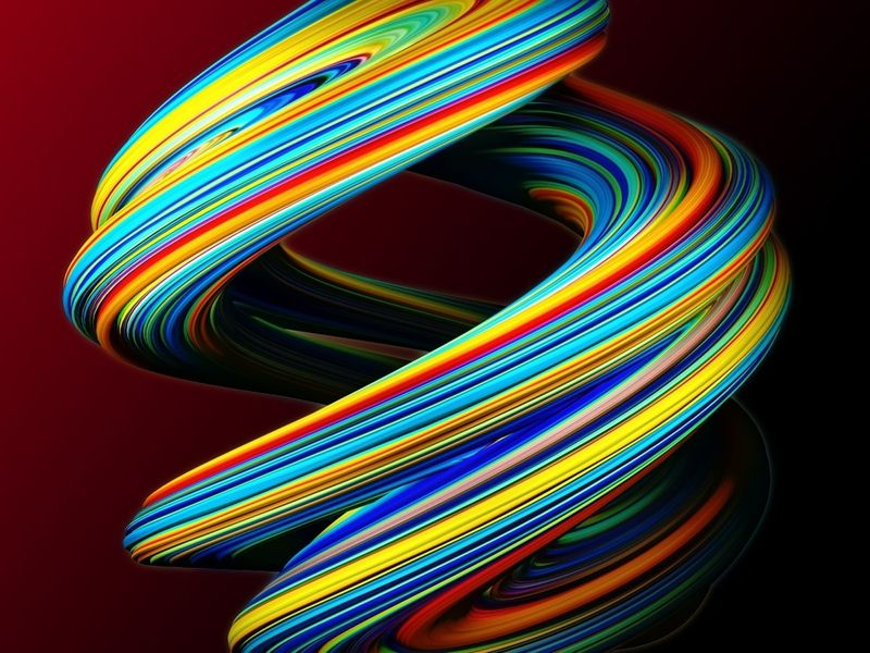 Abstract colorful object