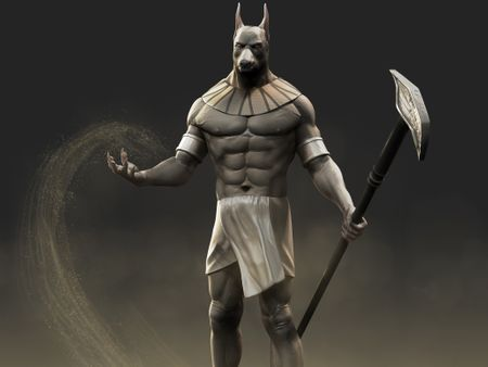 Egyptian God Anubis Sculpt
