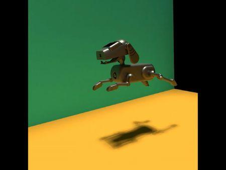 Robotic Dog Jumping