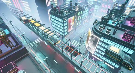 Urban night game environment