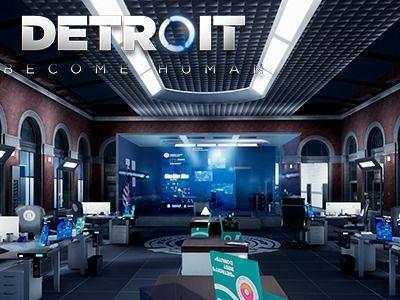 Detroit Become Human Police Station Fanart