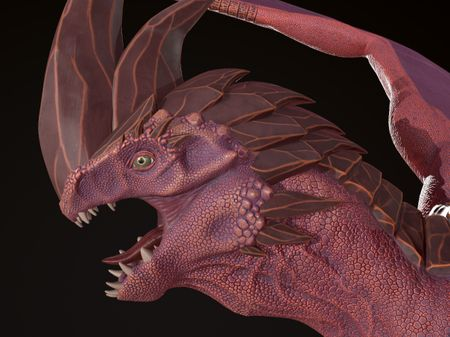 Dragon and Oni 3D models by Alycia Ewing