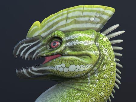 Green Dragon - 3D Head Bust