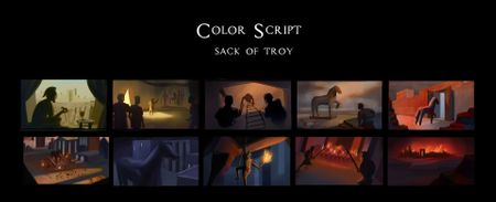 Color Script: Sack of Troy