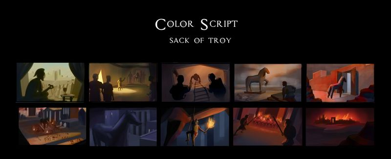 Color Script: Sack of Troy