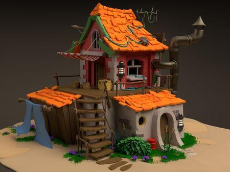 Stylized 3D House