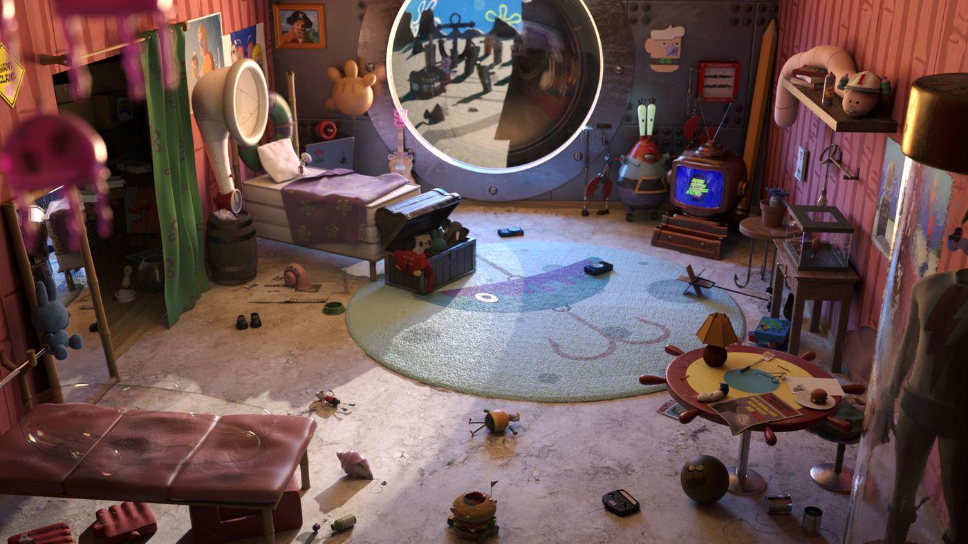 Spongbob's room
