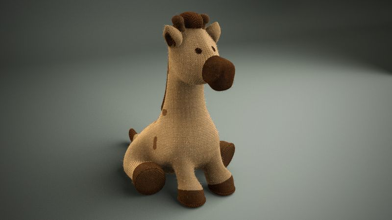 Knitted giraffe - Materials Practice