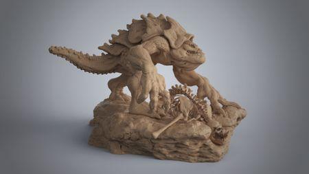 Fantasy lizard sculpt