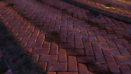 Herringbone Brick Street Material