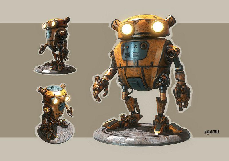 Substance Texturing Challenge - Eddie Robot