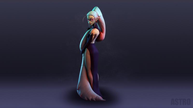Ellundra (3D Stylized Character)