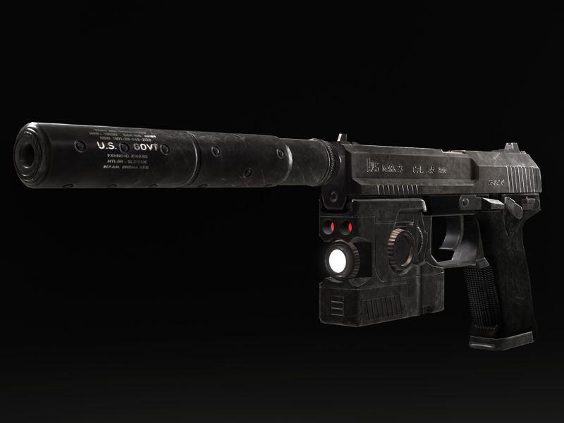 HK MARK 23 SOCOM .45 AUTO (SOLID SNAKE VERS.)