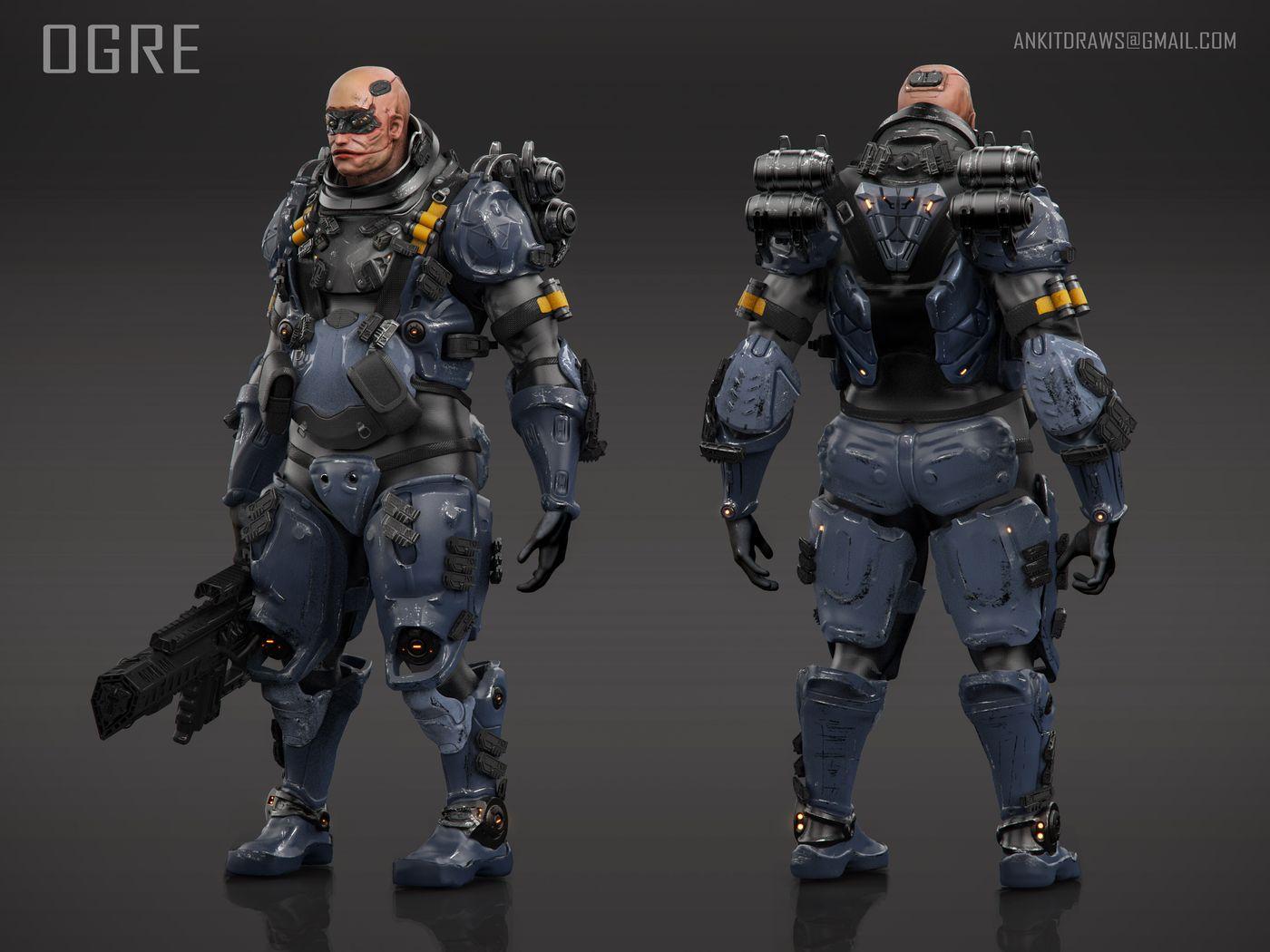 ogre unit character design