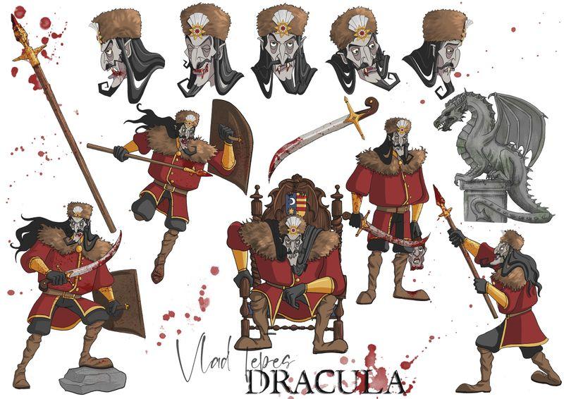 Dracula character designs