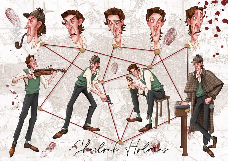 Sherlock Holmes Character designs