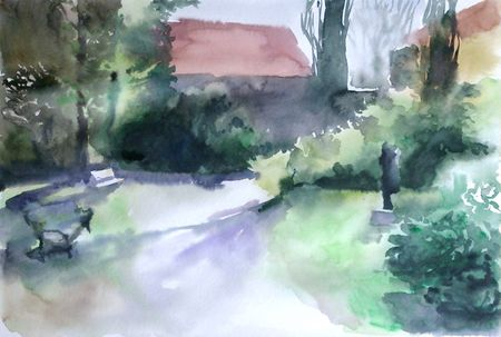 Watercolor park