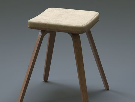 3D Counter Stool