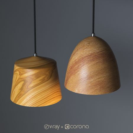 3D Wooden Pendant Lights