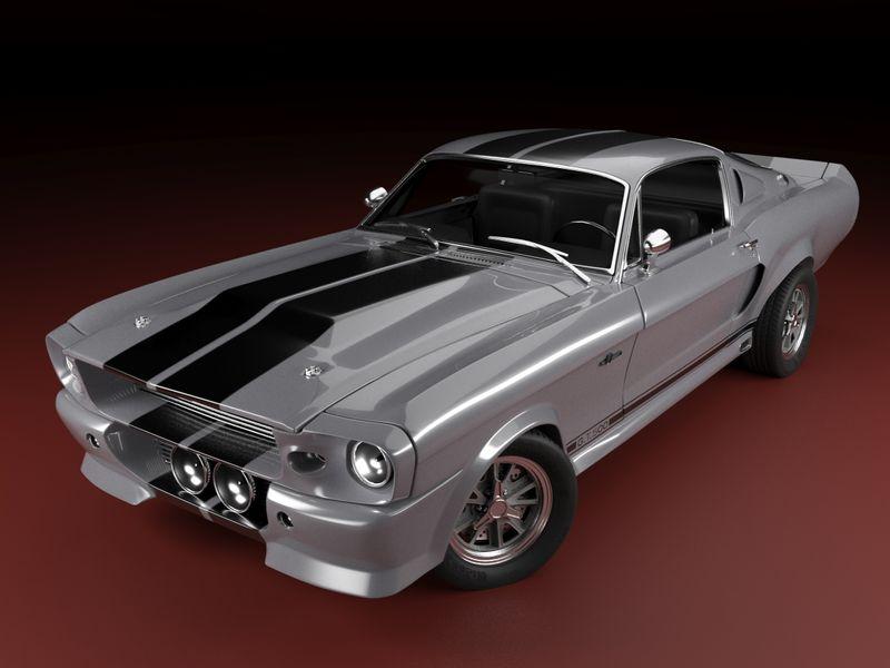 Mustang Shelby Gt 500 Eleanor 3D