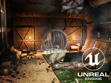 Sewer Scene - Unreal Engine Study