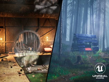 Sewer and Misty Forest Scenes - Unreal Engine Environments