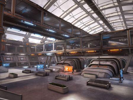 Sci-fi Trainstation