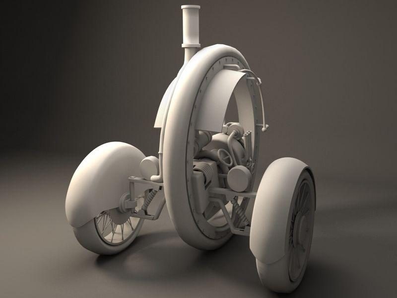 Heng Yi Hsieh Three Wheeler 3D Study