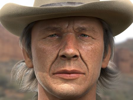 Charles Bronson 3D Digital Portrait