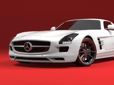 Mercedes Benz SLS AMG 3D Model.