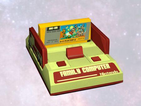 Famicom 3D model Javier Mollá García