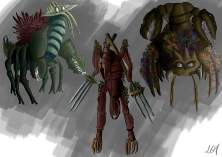 Crustacean - inspired creatures
