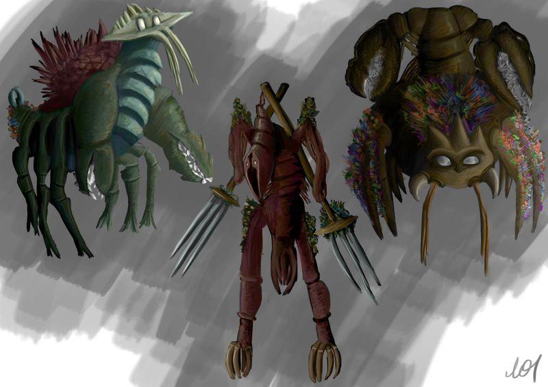 Crustacean - inspired creatures