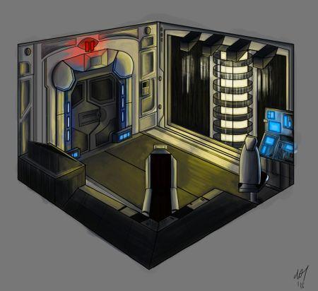 Sci-fi reactor room