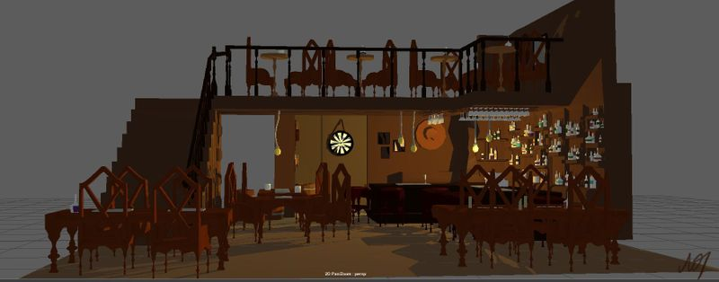 A low poly saloon