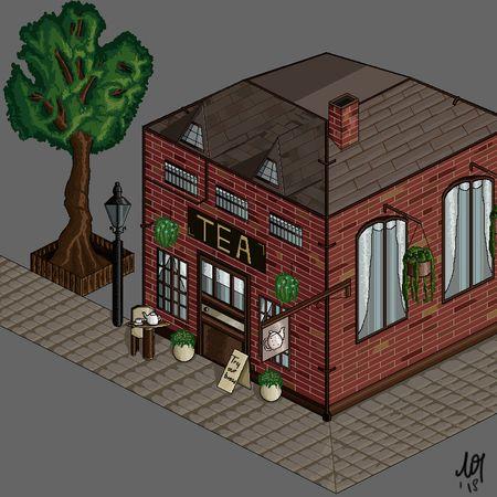 Pixel Art Tea Shop