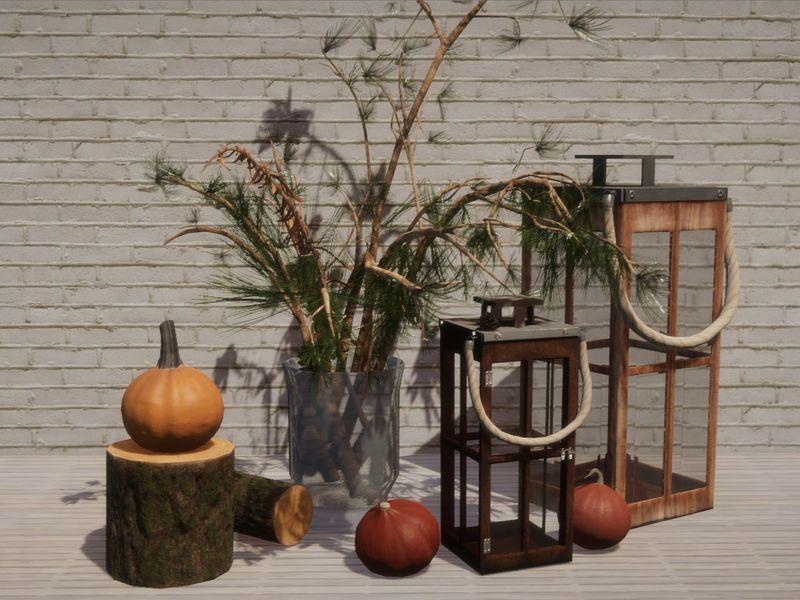 Autumn 3D scene