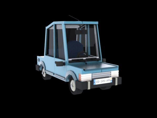 The little blue car