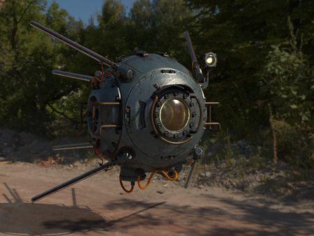 Sci-fi Drone (Sputnik)