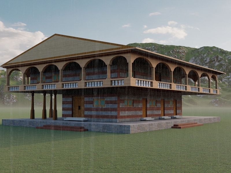 ARCHITECTURAL VISUALIZATION OF TRADITION HIMACHAL HOUSE