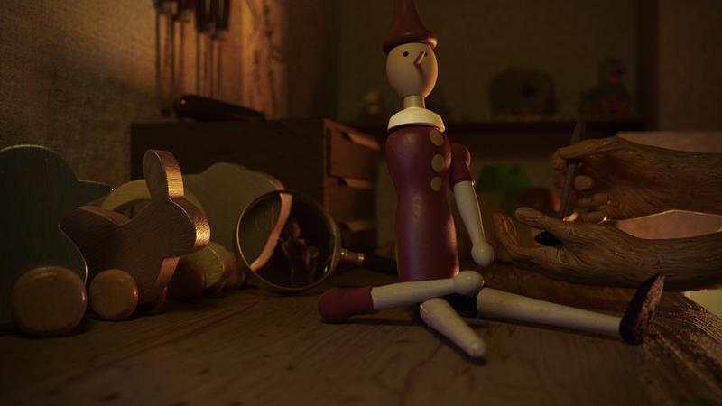 Pinocchio's workshop.