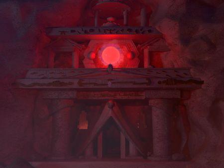 The O-Temple, night