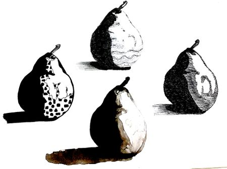Drawing Techniques Study - Pear