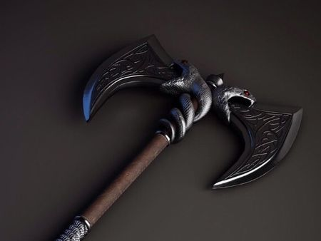 Snake Battle Axe