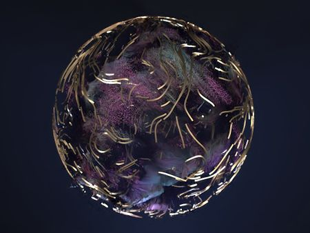 Swirling Particle Orb