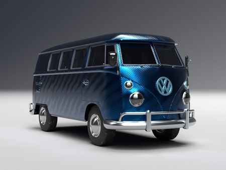 The Pantone color of the year 2020 Kombi Van
