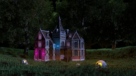 Stylized Haunted house