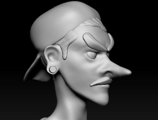 Random stylized man
