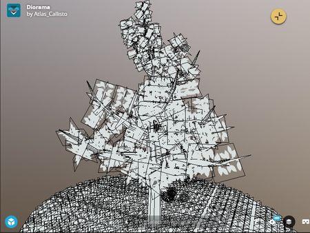 Low-Poly Tree Diorama